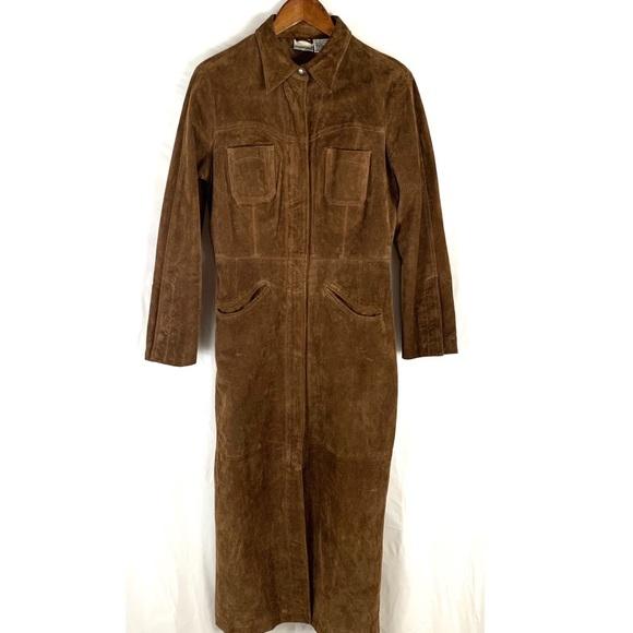 Newport News Jackets & Blazers - Newport News Ladies Leather Trench Coat